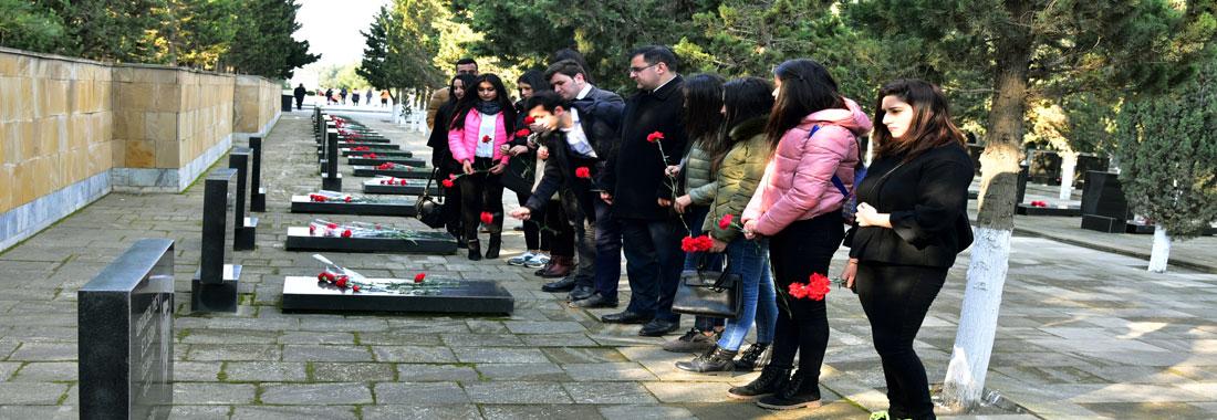 """Sumqayıt Dövlət Universitetində """"Qanlı Yanvar hadisələri""""nin 28-ci ildönümü ..."""